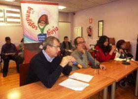Fernando García Mongay con Los Bandidos de la Hoya en la grabación de su programa número 170 sobre Periodismo Digital, el 8 de noviembre de 2013.