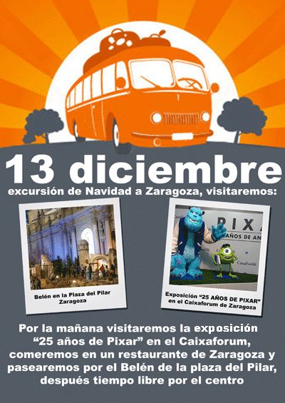 cartel de la excursión a Zaragoza