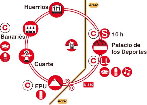mapa del recorrido de la marcha