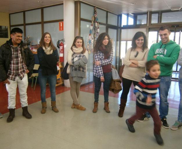Estudiantes de visita en nuestro centro