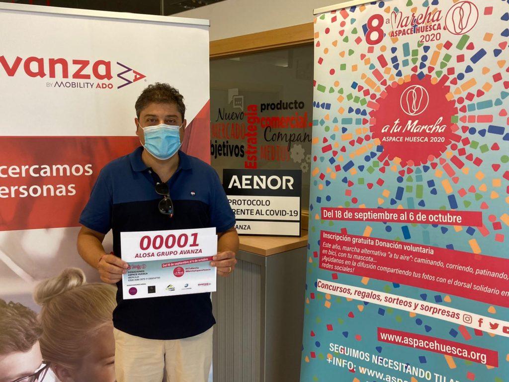 ALOSA Patrocinadores dorsal Marcha Aspace Huesca 2020