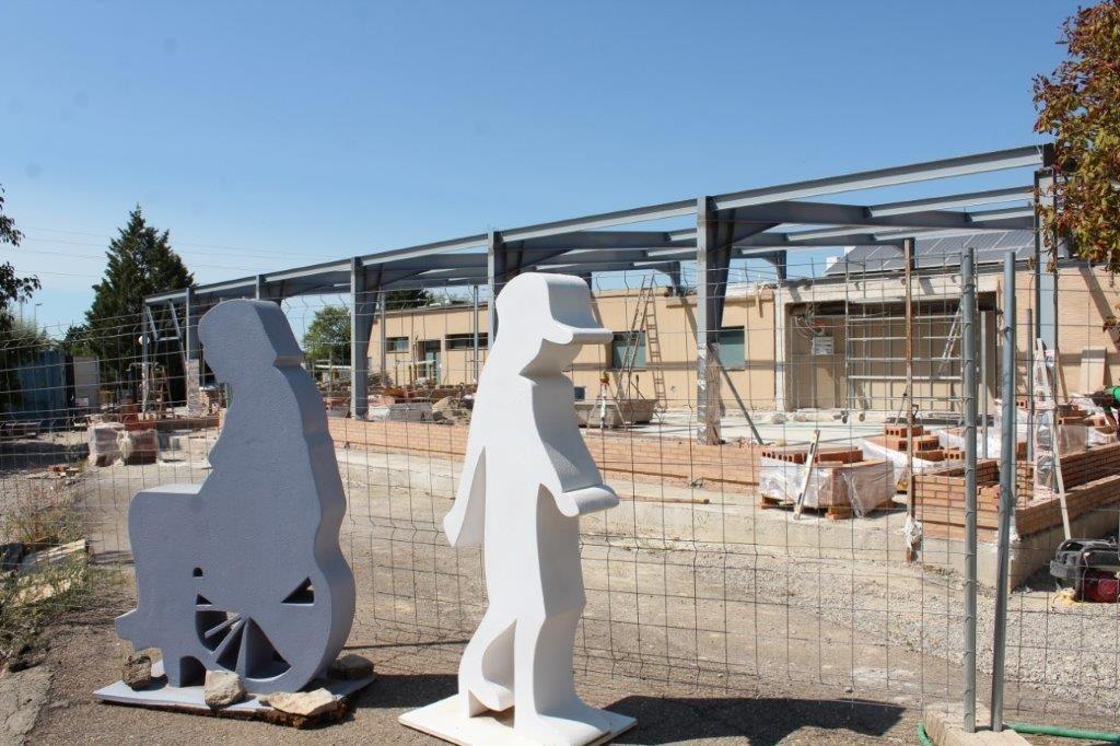 Las obras del comedor Aspace Huesca, objeto final de la marcha, siguen adelante