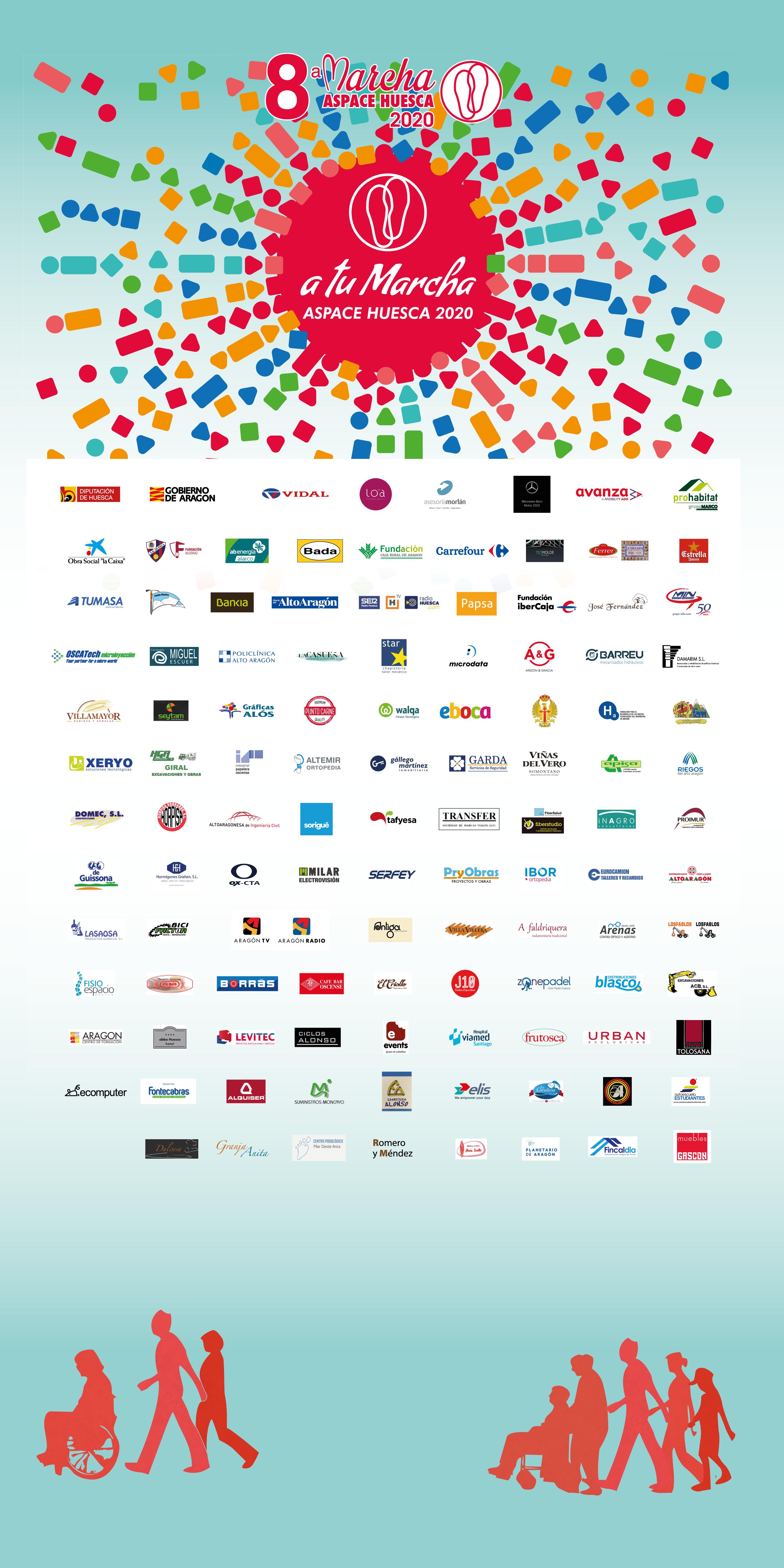 Patrocinadores Marcha Aspace Huesca 2020